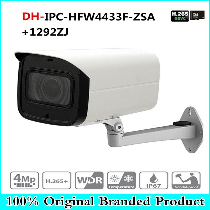 DH IPC-HFW4433F-ZSA 4MP Réseau IP Caméra 2.7-13.5mm Objectif VF Bullet 80 m IR Micro SD Fente Pour Carte MICRO intégré IK10 avec dahua logo