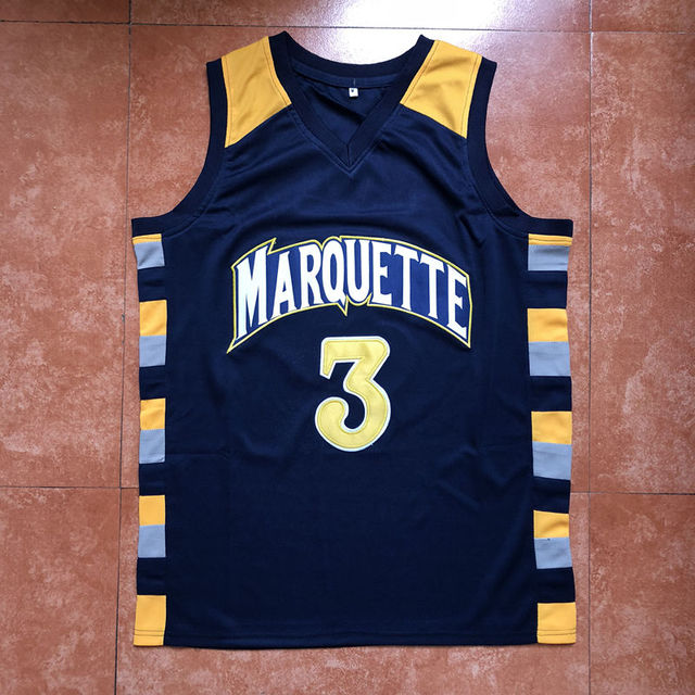 d39fab16011 2019 New  3 Dwyane Wade Marquette Golden Eagles College Basketball Jersey  Stitched S-XXL