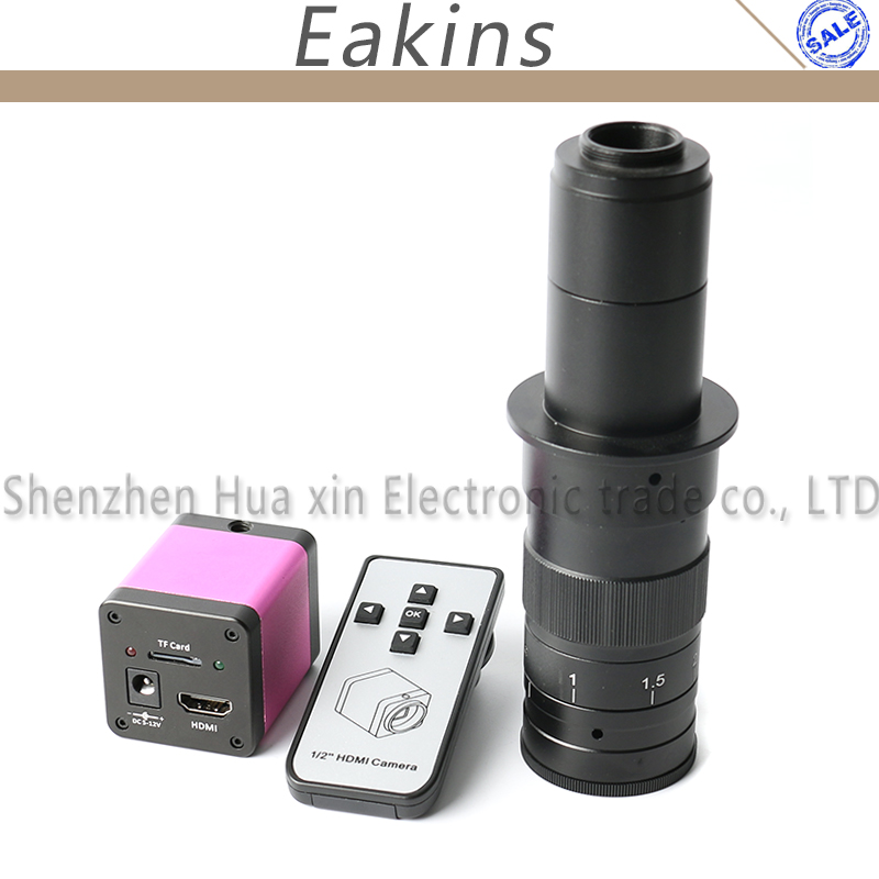 720 P HDMI HD промышленность видео микроскоп Камера ИК пульт дистанционного управления хранения карты памяти фото + 180X/300X зум c Крепление объекти