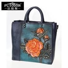 2017 Women Bags Tote Retro Genuine Leather Small Handbag Shoulder Bag Handmade Ladies Messenger Crossbody Bag
