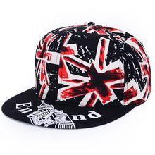 7548fb43ce3 (Ship from US) Fashion Cool Hat UK England Pattern Print Flag Flat Baseball  Caps Visor Casual Hat Unisex Adjustable Cotton Letters Hip Hop Cap