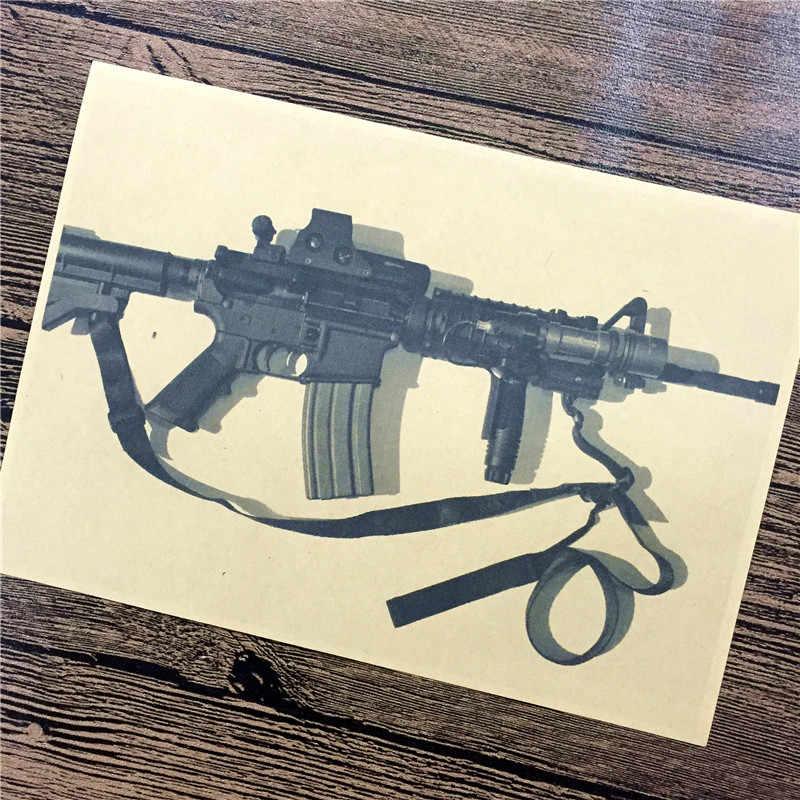 """عالية الجودة 100% RMG-056 ديكور المنزل ورق الكرافت """"عملي بندقية"""" ل مطبخ الجدار ملصق ملصق غرفة المعيشة مقهى 42x30 cm"""