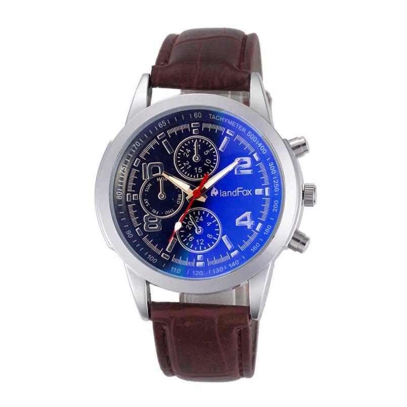 Excellent Quality Luxury Business Quartz Watches Mens Fashion Quartz Clock Leather Strap Wristwatches Relogio Masculino