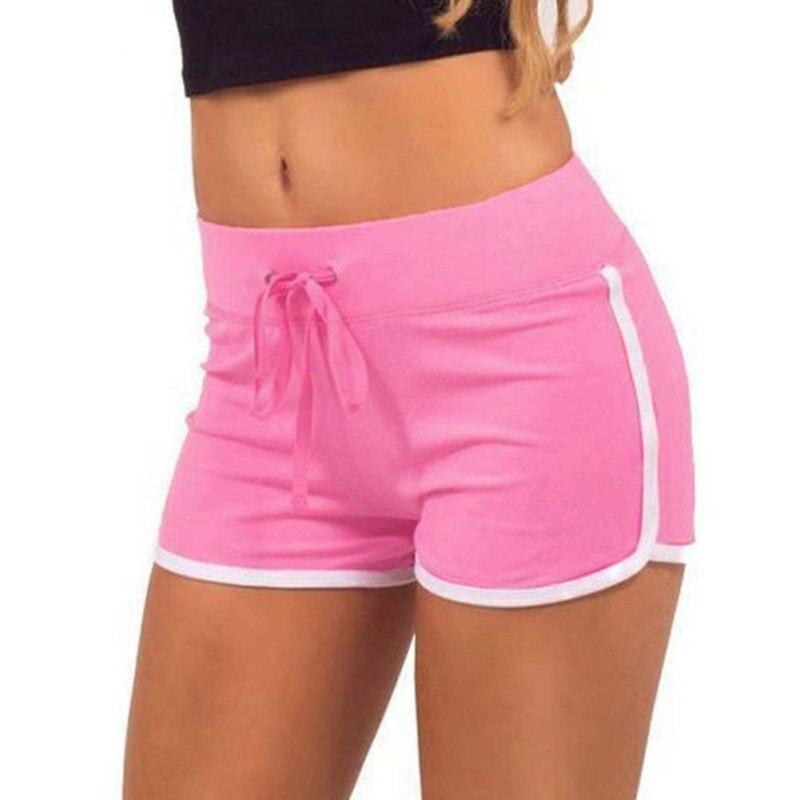 2019 Fast Drying Drawstring Women   Shorts   Casual Anti Emptied Cotton Contrast Elastic Waist Correndo   Short   Pants
