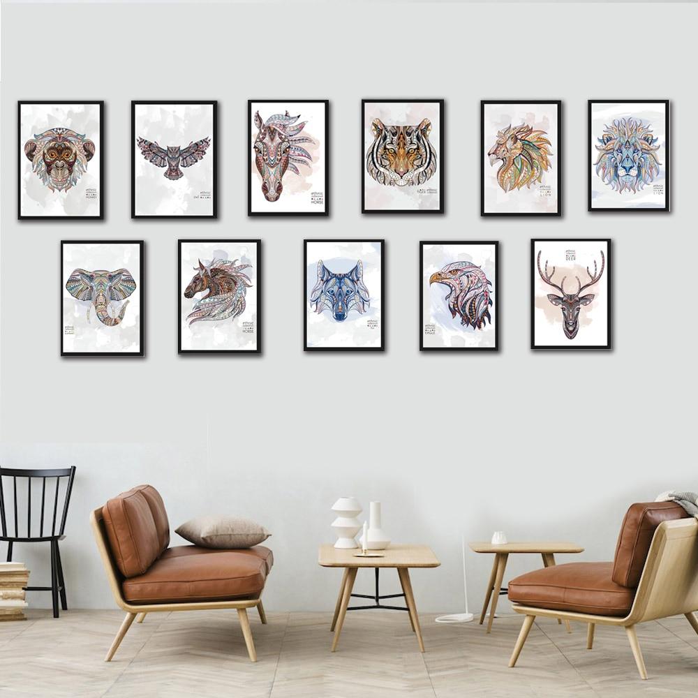 11 Styles Wild Animal Canvas Art Print Poster Animals