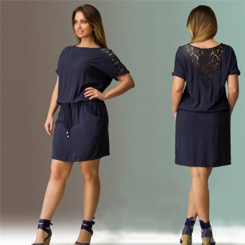 Aliexpress.com : Buy Short Sleeve Lace summer Dress big ...