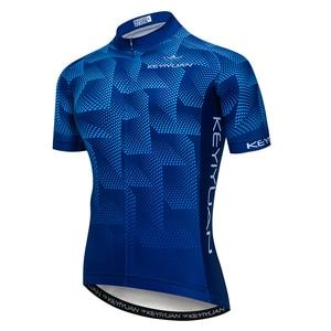 Image 1 - قميص جيرسي لركوب الدراجات الجبلية من KEYIYUAN قميص صيفي يسمح بالتهوية