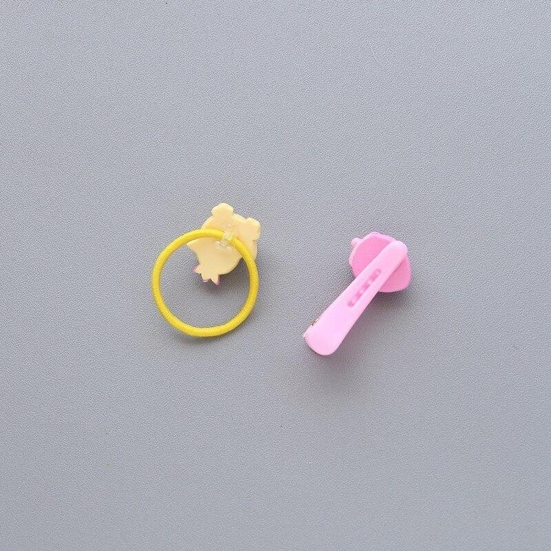 2 PCS Cartoon Fruit Flower Princess Headwear Baby Headdress Children Hair Ropes Girls Hair Accessories Kids Elastic Hair Bands