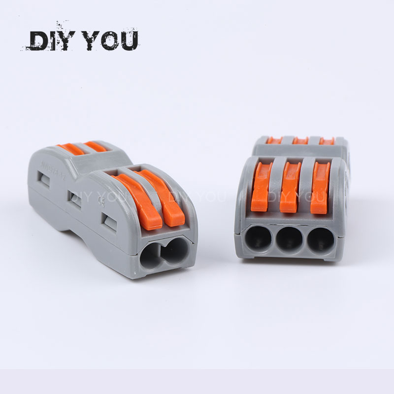 DIY YOU Wago Type Wire Connector 2/3 Pin SPL-2/3 Cage Universal Docking Fast