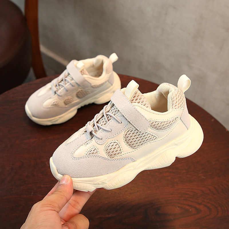 2019 ฤดูใบไม้ผลิฤดูใบไม้ร่วงเด็กรองเท้าเด็กชายกีฬารองเท้าแฟชั่นสบายๆ Breathable กลางแจ้งเด็กรองเท้าผ้าใบเด็กรองเท้า