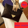 Vintage women clutch women leather handbag day clutch women wallets purse messenger bags in shoulder bag