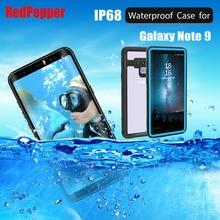 Ban Đầu RedPepper Chấm Series IP68 Ốp Lưng Chống Nước Dành Cho Samsung Galaxy Samsung Galaxy Note 9 Lặn Dưới Nước PC + TPU Giáp Bao SN93