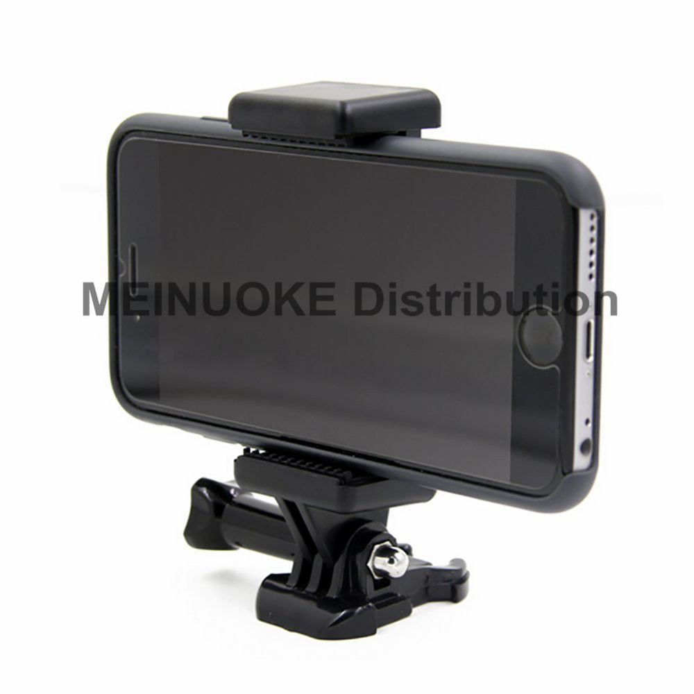 Universal Smartphone Clip Holder w/ GoPro type Tripod Mount Attachment for any Mobile phone Gopro, SJCAM Action Camera Mount