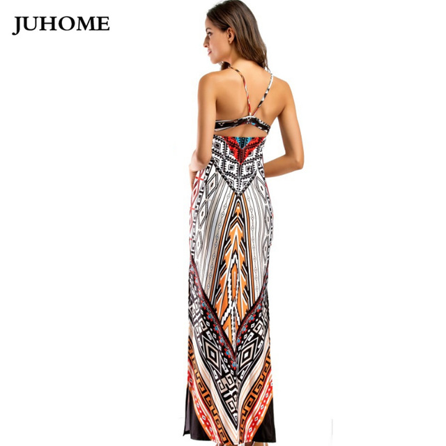 Women clothing Sexy beach Tunic Long maxi Dress 2017 Summer sundress Open Back Bandage backless Bodycon Evening Party Vestidos