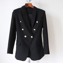 831b8ca338 Buy black blazer gold button and get free shipping on AliExpress.com