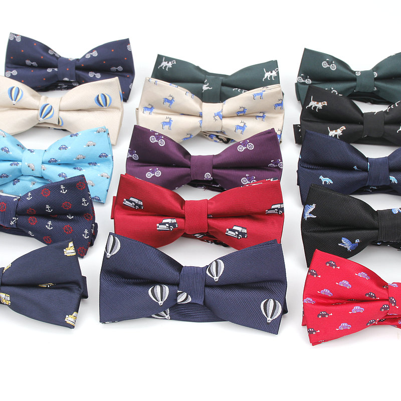 Brand New Style Men's Cartoon Bowtie For Men Polyester Jacquard Animal Bow Tie Wedding Business Suits Bowties Gravatas Butterfly