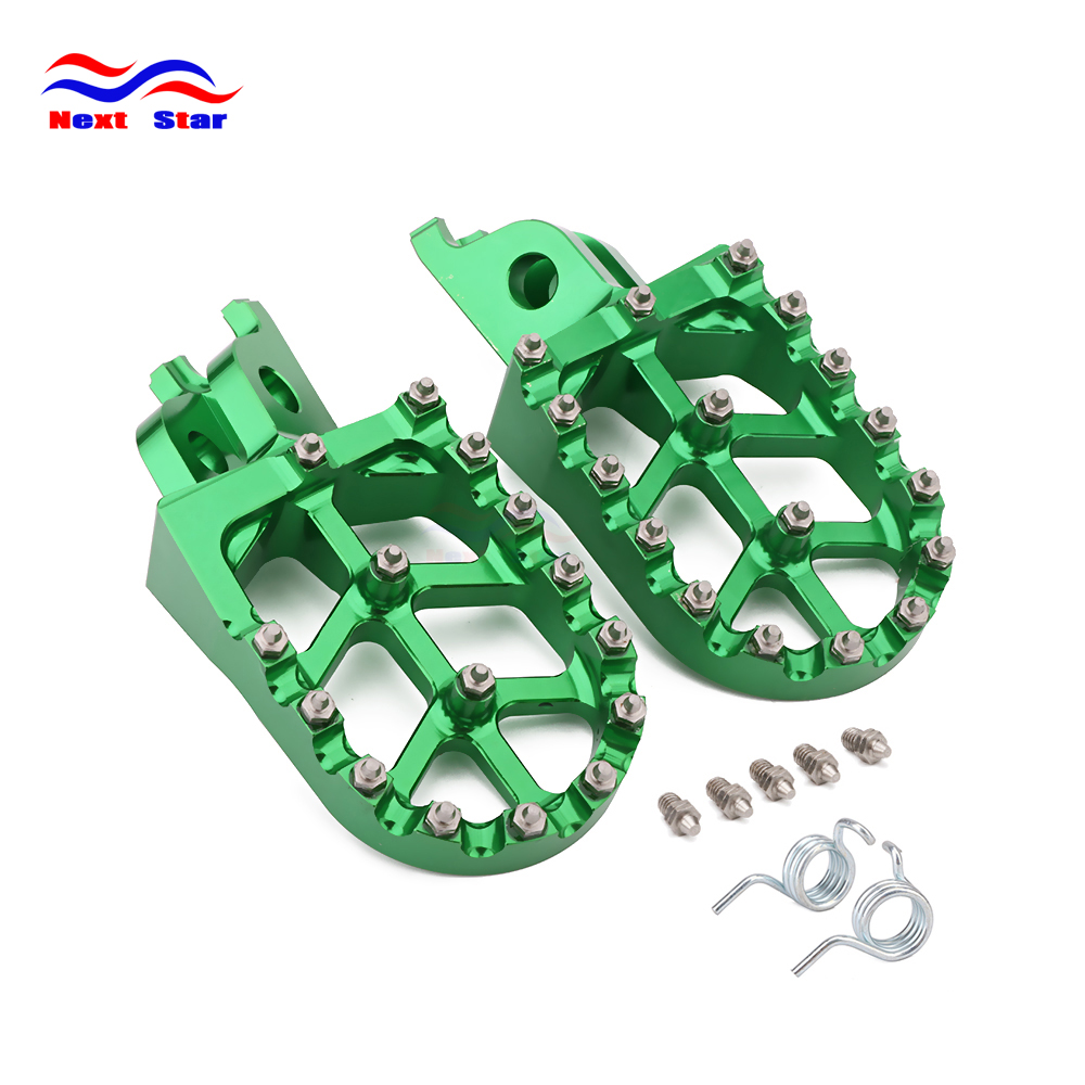 Foot Rests Footrest Footpegs Pegs Pedals For KAWASAKI KLX450 KX450F KX250F KXF 250 450 2006-  2015 2016 2017 2018 Klx450r 08-13