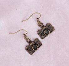 E023 Personality stereo camera earrings street beat tide personality punk retro earrings