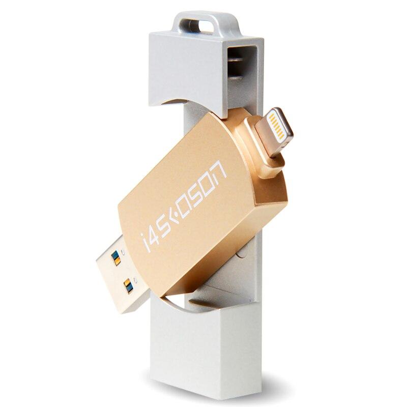 Usb Flash Drive 32GB USB3 0 Lightning Pen Drive For iPhone 6 6s 7 Plus OTG