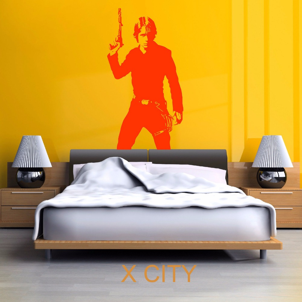 STAR WARS LUKE SKYWALKER vinyl wall art decal sticker room ...