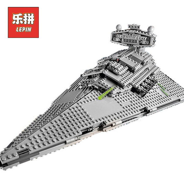 New Lepin 05062 1359pcs Genuine Star War Series The Imperial Star Destroyer Set 75055 Building Blocks Bricks Educational Toys lepin 05062 genuine star series wars the star model destroyer set legoing 75055 building blocks bricks educational toys for gift