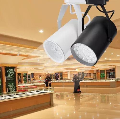 12 W Noverty levou faixa de iluminação AC85-265V de alumínio branco e preto luz de teto holofotes