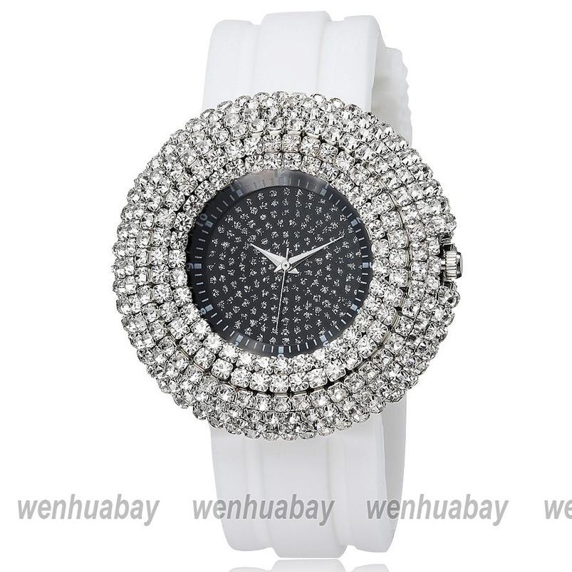 Watches Dynamic Unisex Quartz Dial Diamond Leather Analog Wrist Skull Head Watches Round Case Watch Men Women Digital Relogio Masculino Feminino
