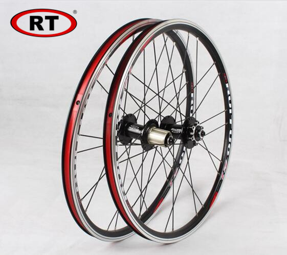20inch RT *1 3/8 V /disc Brake Front 2 Rear 5 Bearing Ultra Smooth light 451/406 wheel wheels For BXM folding bike