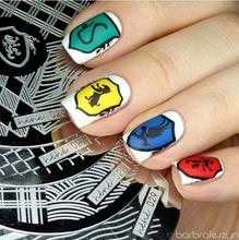 Nail Art Stamping Plate Template Eagle Circle Square Wave Stamp Image hehe027