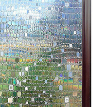 Multiple sizes available No Glue Static Cling Privacy Glass Film, 3D Laser Pebble Home Decorative Window Films,self-adhesive