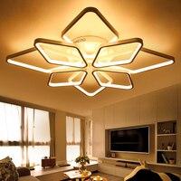 NEO Gleam White Or Black Modern Led Chandelier Light For Living Room Bedroom New Aluminum Surface
