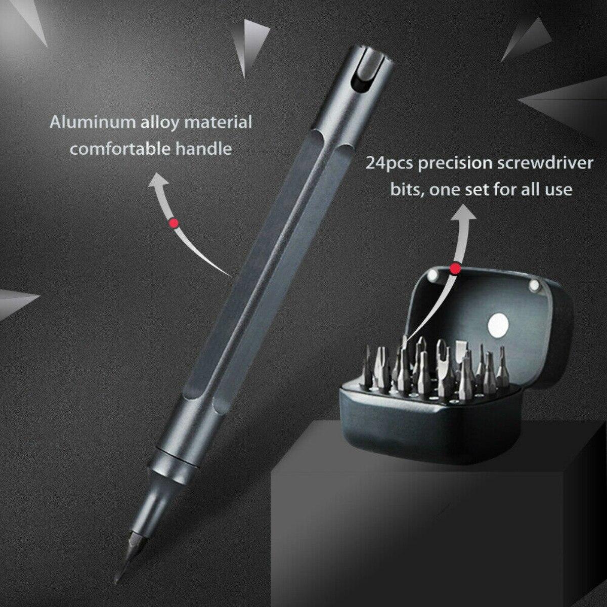 25Pcs Screwdrive Kit Precision Magnetic Bits Box Screw Driver Multi function Multi Bits Repair Tool Phone Repair Smart Home Set