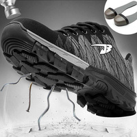 Men Steel Toe Work Safety Shoes Work & Safety Boots Breathable Construction Work Shoes Puncture Proof High Quality Shoes