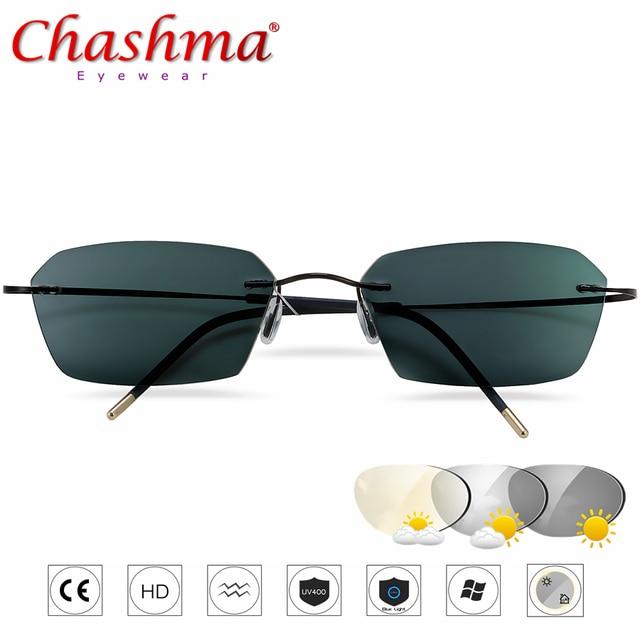جديد الانتقال النظارات الشمسية التيتانيوم فوتوكروميك نظارات للقراءة الرجال قصر النظر الشيخوخي الديوبتر في الهواء الطلق الشيخوخي