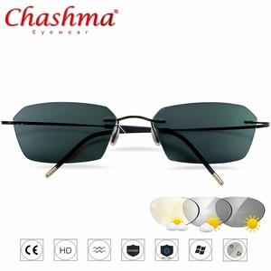Image 1 - NEW Transition Sunglasses Titanium Photochromic Reading Glasses Men Hyperopia Presbyopia  Diopters Outdoor Presbyopia Glasses