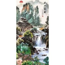 Waterfall Mountain DIY 5D Full Drill Diamond Painting Embroidery Cross Stitch Kit Rhinestone  Home Decor Craft
