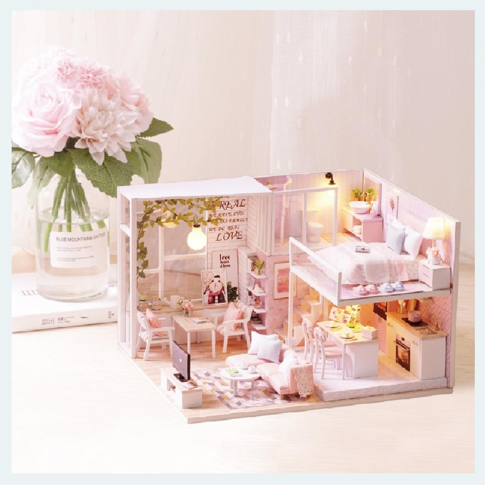 Image 5 - Cutebee Doll House Furniture Miniature Dollhouse DIY Miniature House Room Box Theatre Toys for Children Casa DIY Dollhouse L22CDoll Houses   -