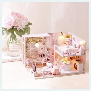 Image 5 - Cutebee ตุ๊กตาเฟอร์นิเจอร์บ้าน Miniature ตุ๊กตา DIY Miniature บ้านกล่อง Theatre ของเล่นเด็ก DIY Dollhouse E