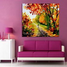 100%Handpainted Abstract Woods Beauty Knife Oil Painting On Canvas Thick Wall Picture For Home Decor As Best Gift