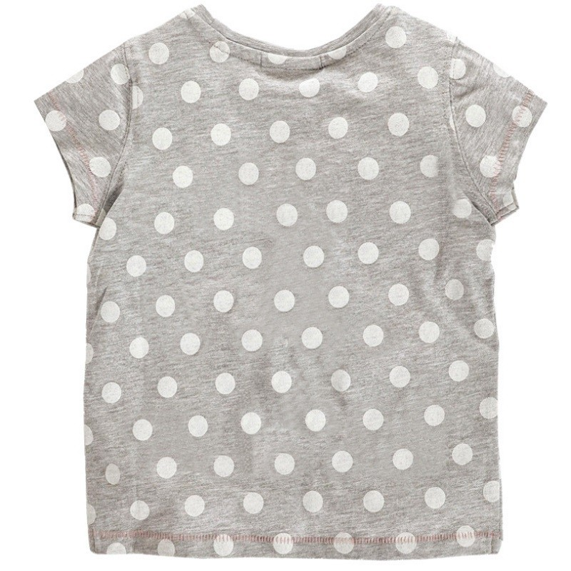 17 New Little Maven 1-6 Years Girls T-shirt Short Sleeve Animal Printing Children Tees Rabbit Cat Printing Kids Tops KF046-1 6