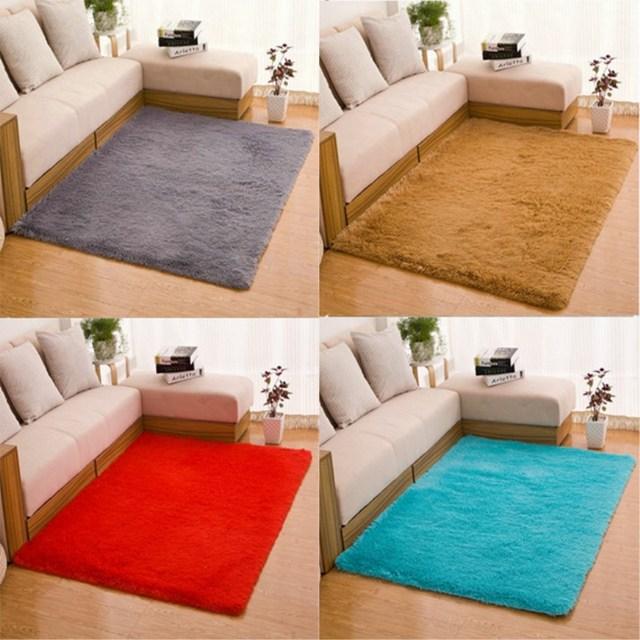 Modern Household Carpet Washable Living Room Bedroom Carpet Entrance Solid Color Carpet Thickening Mat anti-Slip Mat Multi-Size