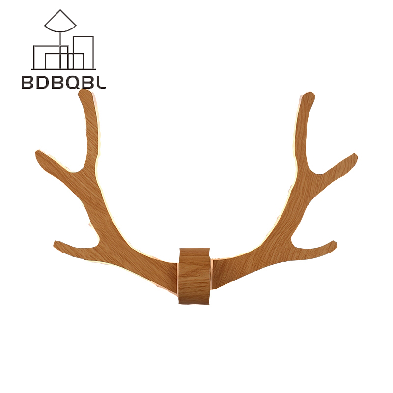 BDBQBL American Retro Wall Lamps Stairs Bedroom Bedside Lamp Wall Light Antler Deer Living Room Nordic Creative Home Lighting modern wall lamp bedside lamps wall light bedroom lighting for home decor 110v 220v e14 holder lightings study room hotel hall