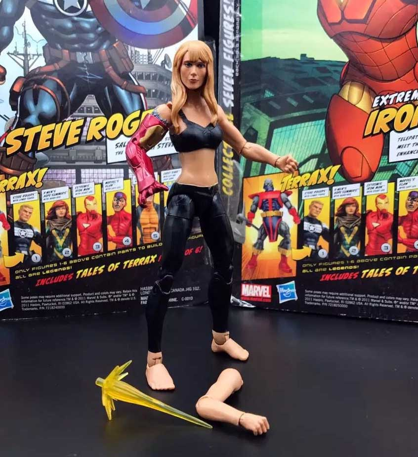 Marvel Legends 10th Anniversary Iron Man 3 Pepper Potts 6 Loose Action Figure