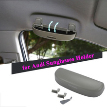 Автомобильный футляр для солнечных очков коробка для хранения очков Чехол для Audi A3 A4 B6 B8 B7 B5 A6 C5 C6 C7 80 A5 Q7 TT Q5 A1 A8 100 A7 Q3 Q5 S3