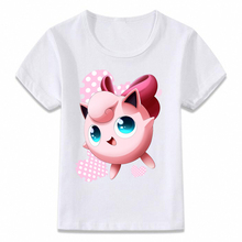 6455dc8b5f8d Camisa dos miúdos T Jigglypuff Pokemon Bonito Meninos e Meninas T-shirt T  Da Criança