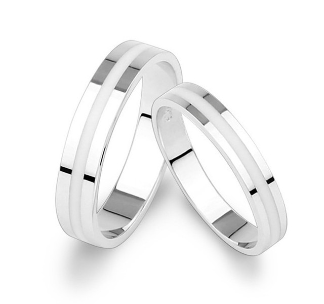 lovers white silver couple rings for lovers 925 sterling silver wedding band his and her promise ring us size 4.5 - size 11.5