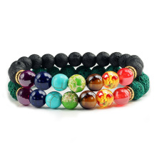Natural 2Pcs/Set Natural Stone 7 Chakra Bracelets