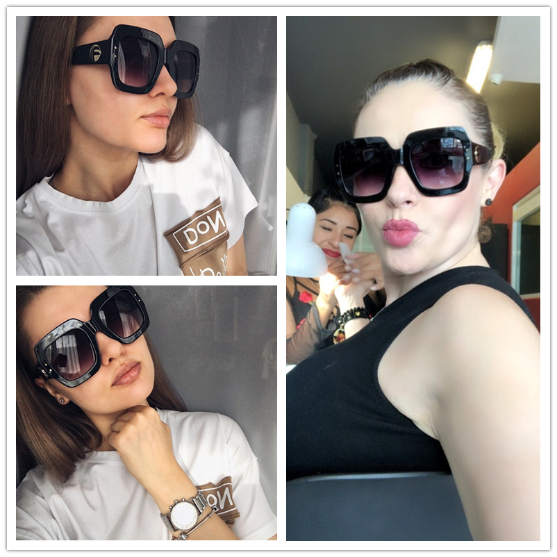 Spring Summer 2020 Fashion Oversized Square Sunglasses Women Brand Design New