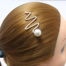Fashion 1pc Pearl Hairpin Girls Geometric Hollow Triangle Round Shape Barrettes Hair Clips for Women Accessories