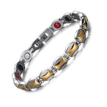 все цены на Silver-gold Stainless Steel Magnet Bracelet Jewelry Steel Germanium Bracelet